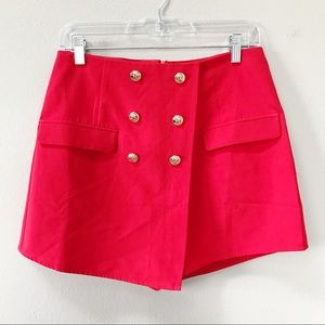 Missguided | Military Short Red Size 6 NWT